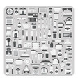 flat icons modern kitchen room set vector image vector image