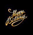 Golden text on black background Happy birthday to