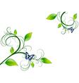 Green Floral Leaf Frame vector image vector image