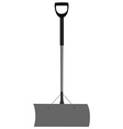 Grey snow shovel vector image vector image