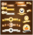 Halloween ribbon gold silver copper vector image