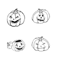 Halloween set with pumpkins vector image vector image