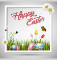 happy easter egg with frame box vector image vector image