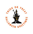 happy halloween emblem logo design holiday poster vector image
