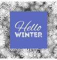 hello winter abstract background design vector image vector image