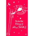 holiday greeting card 2021 year vector image