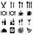 icons for kitchen vector image vector image