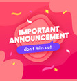 important announcement banner social media promo