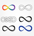 Infinity symbols signs vector image