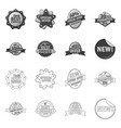 isolated object emblem and badge icon vector image vector image