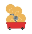 lightbulbs in wagon icon vector image vector image