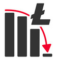 litecoin epic fail chart flat icon vector image vector image
