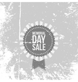 Memorial Day Sale Emblem with Text and Ribbon vector image vector image