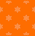 ninja shuriken star weapon pattern seamless vector image vector image