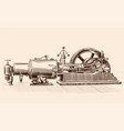old steam engine vector image