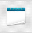 paper diary on transparent background mockup vector image vector image