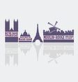 Paris city landmarks vector image vector image