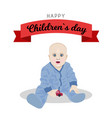 poster design for universal children s day vector image vector image