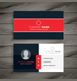 professional red business card template vector image vector image
