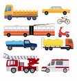 public urban transport for the transport of people vector image