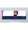 purple landscape brochure cover template layout