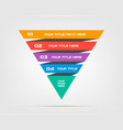pyramids infographic concept template vector image vector image