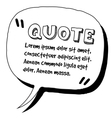 Quote template vector image vector image
