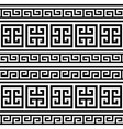 retro greek key pattern seamless design vector image vector image
