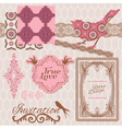 Scrapbook Design Elements - Vintage Tiles vector image vector image