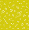 seamless pattern with slices tasty berries vector image