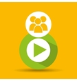social media group video player design vector image vector image