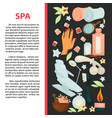 spa salon poster with equipment for beauty vector image vector image