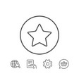 star line icon best rank sign vector image