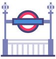 subway flat vector image vector image