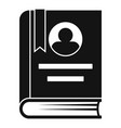 university book icon simple style vector image vector image