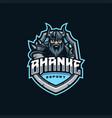 viking mascot esport logo vector image