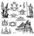 vintage sketch calligraphic drawing heraldic vector image vector image