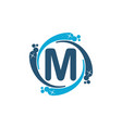 water clean service abbreviation letter m vector image vector image