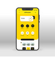yellow app download market ui ux gui screen for vector image vector image
