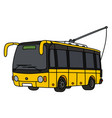 yellow trolley bus vector image
