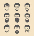 set of different men hipster haircuts vector image