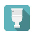 closed toilet seat vector image