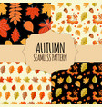 8 seamless pattern collection set background with vector image vector image