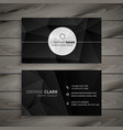 abstract black business card template vector image