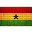 Abstract Mosaic Flag of Ghana vector image vector image