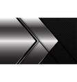 abstract silver black line arrow direction black vector image vector image
