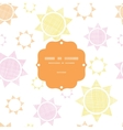 Abstract textile colroful suns geometric frame vector image vector image