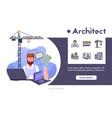architect profession flat vector image