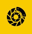automobile disc brake brake block car wheel vector image vector image
