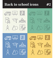 Back to school theme thin line icons vector image vector image